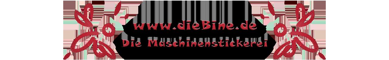 dieBine.de - Die Maschinenstickerei Logo